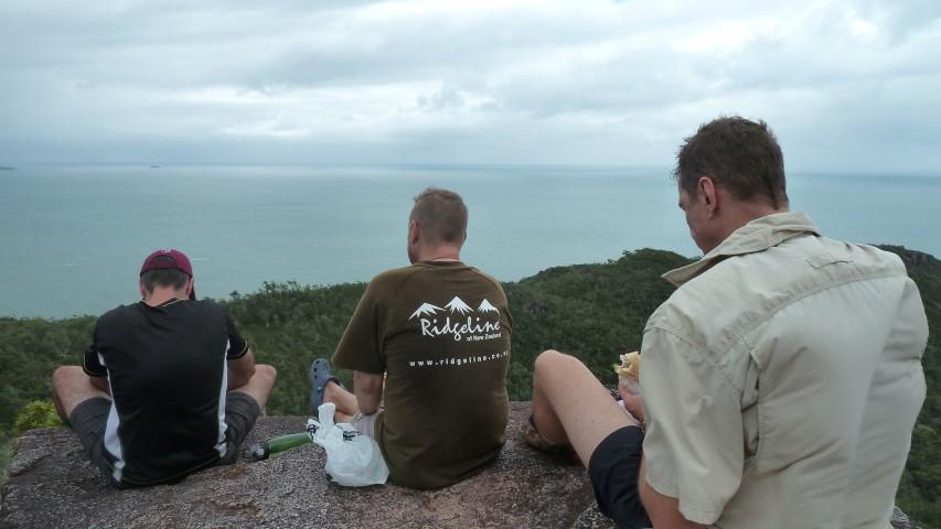 Enjoying SubWay and the 180 degree views halfway up Nina's Peak