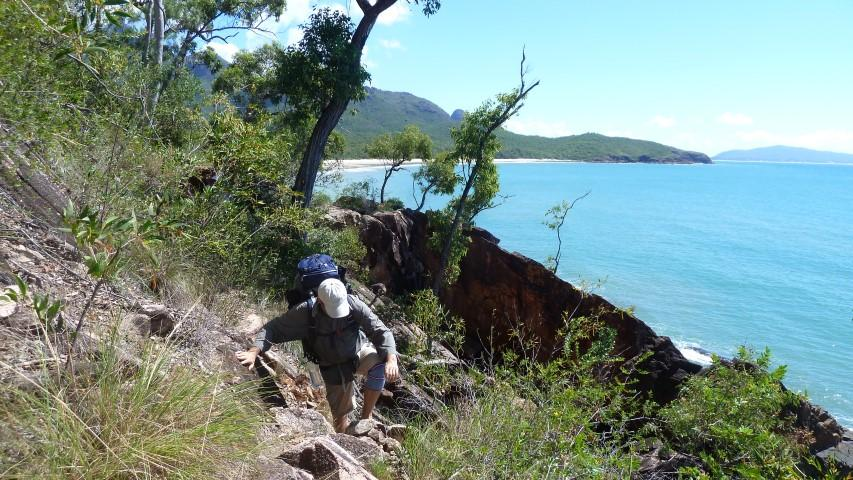 Little Ramsay Bay in the background as we navigate the headland to Boulder Bay.