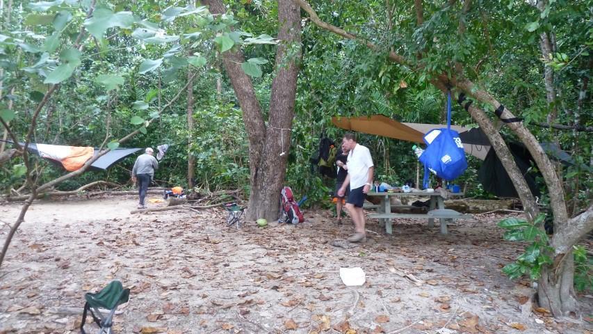 Setting Up Camp at Zoe Bay
