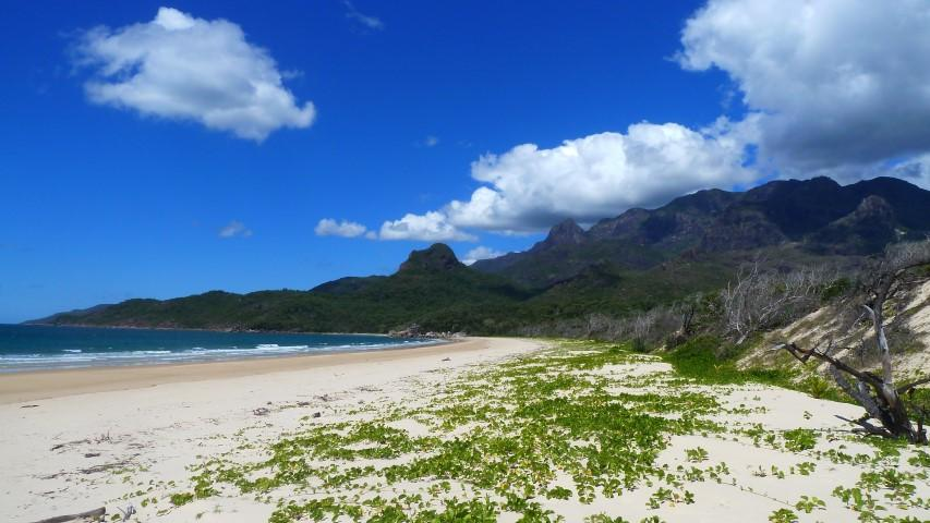 The beach at Ramsay Bay, a 5 minute walk after being dropped of in the mangroves with Absolute North Charters
