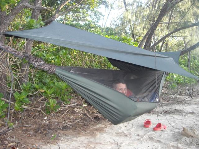 Hammocks are very comfortable, insects and rain can't get in.