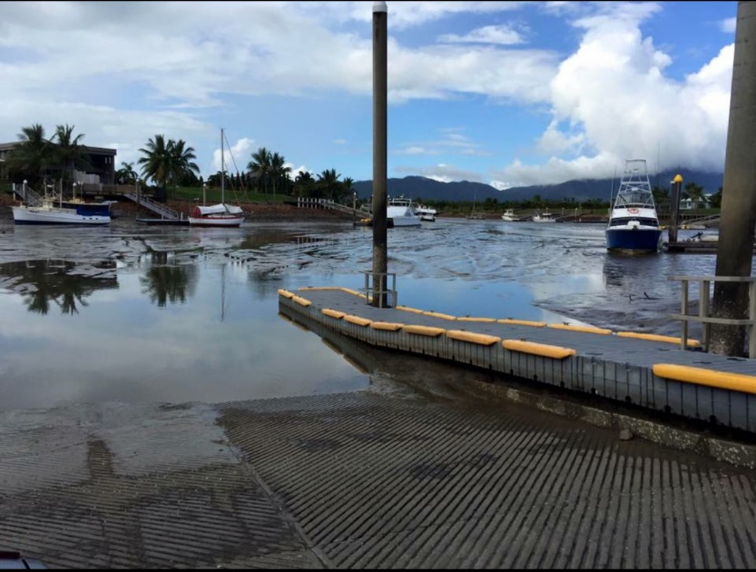 Cardwell Boat ramp at Low Tide.